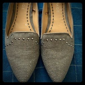 Rampage Grey/Brown flats. Worn once! Size 10